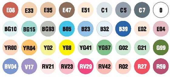 Farben Copic Ciao 36-er Set B