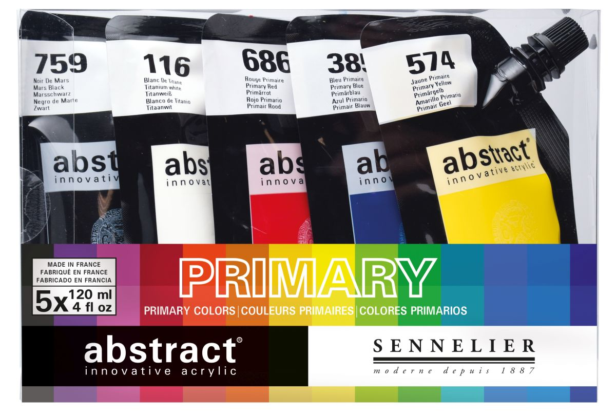 Sennelier abstract Heavy Body Acrylfarbe 120 ml 5-er Set