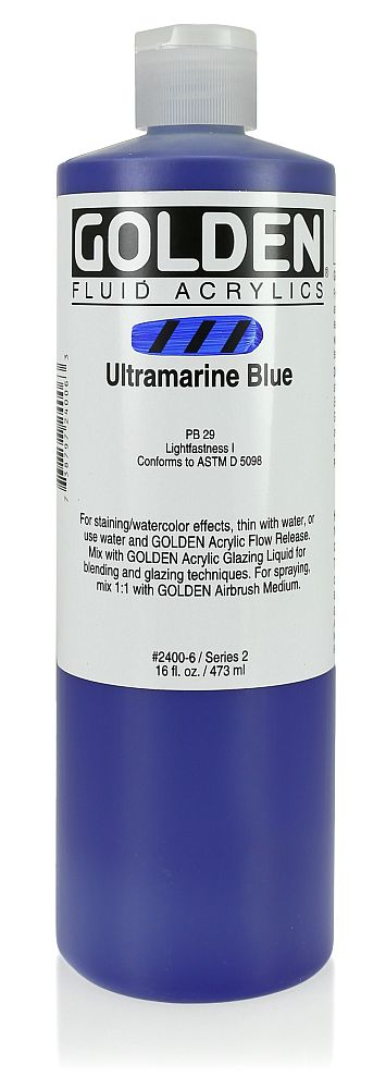 Golden Fluid Acrylfarbe 473ml Flasche PG 2