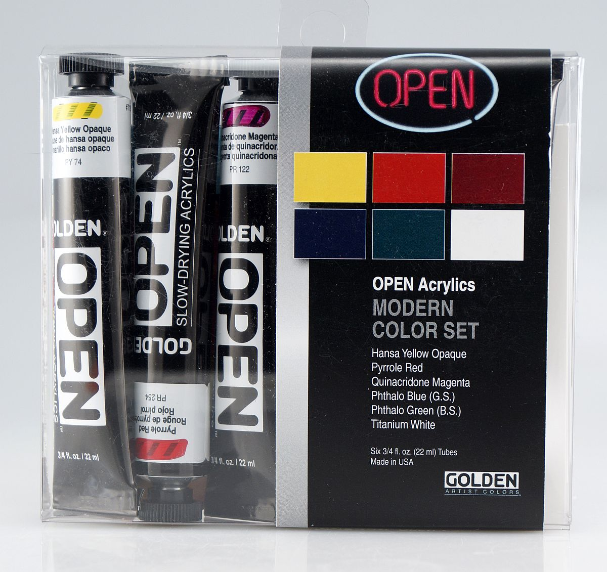 Golden OPEN Acryl-Set 6x22ml modern