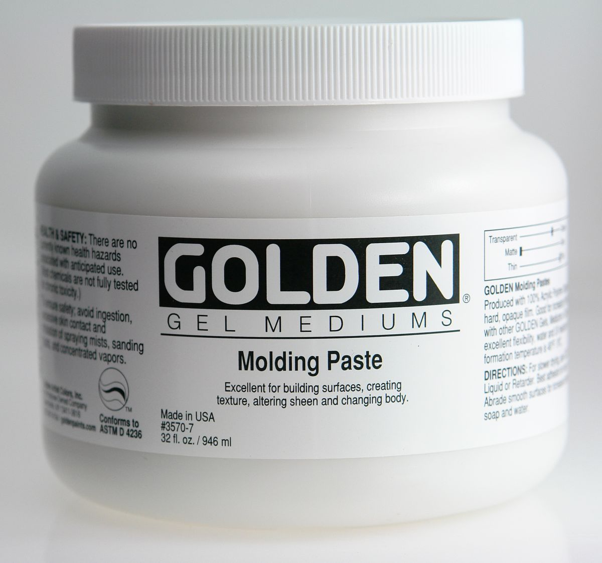 Golden Molding Paste 946ml Dose