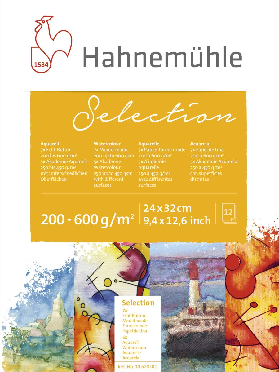 HM Aquarellblock Selection 24x32 cm 12 Blatt