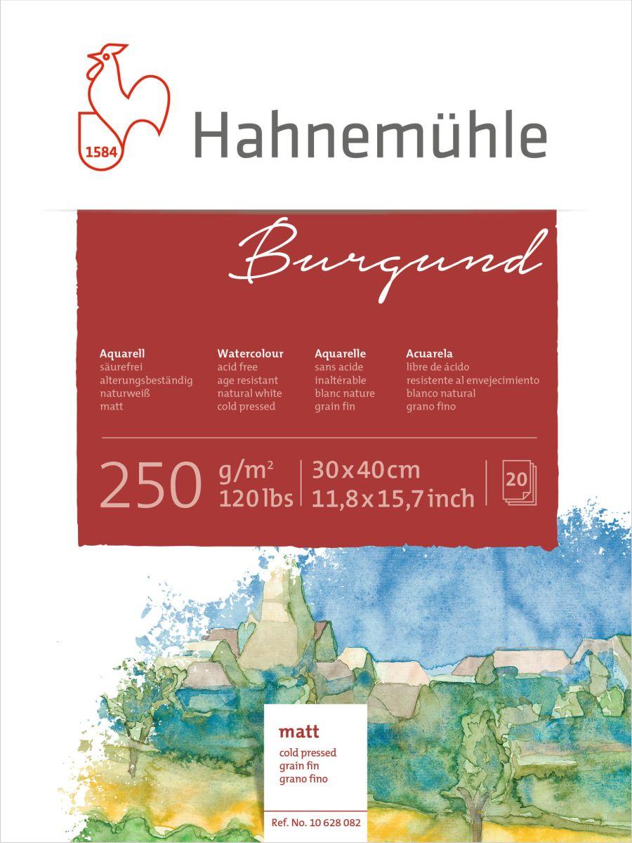HM Aquarell-Block Burgund matt 250 g/m² 30x40 cm 20 Blatt