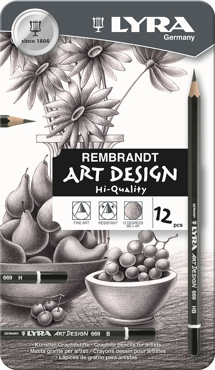 Lyra Art Design Zeichenstift 12-er Metalletui
