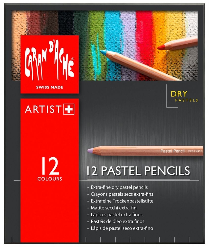 Caran d'Ache Pastellstift 12-er Set