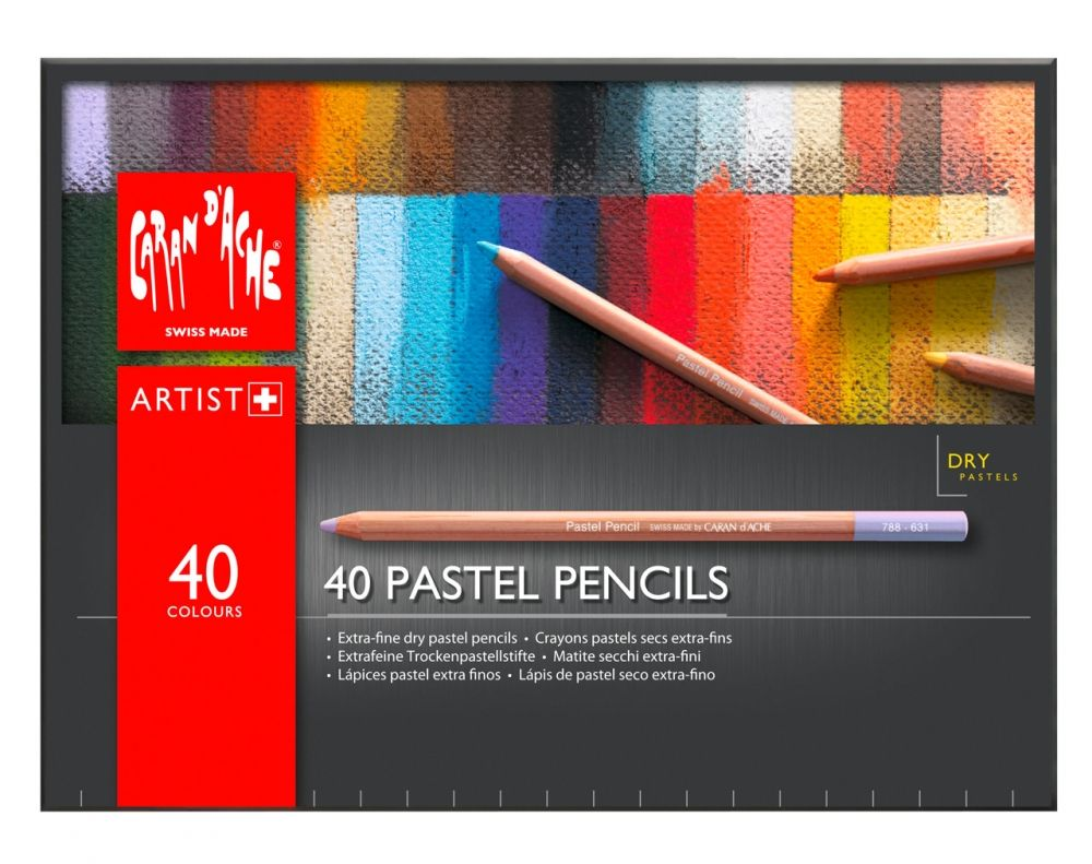 Caran d'Ache Pastellstift 40-er Set