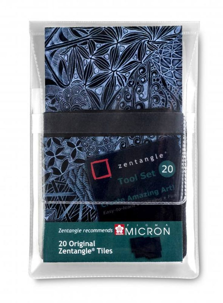Zentangle Tool-Set No. 3 schwarze Kacheln