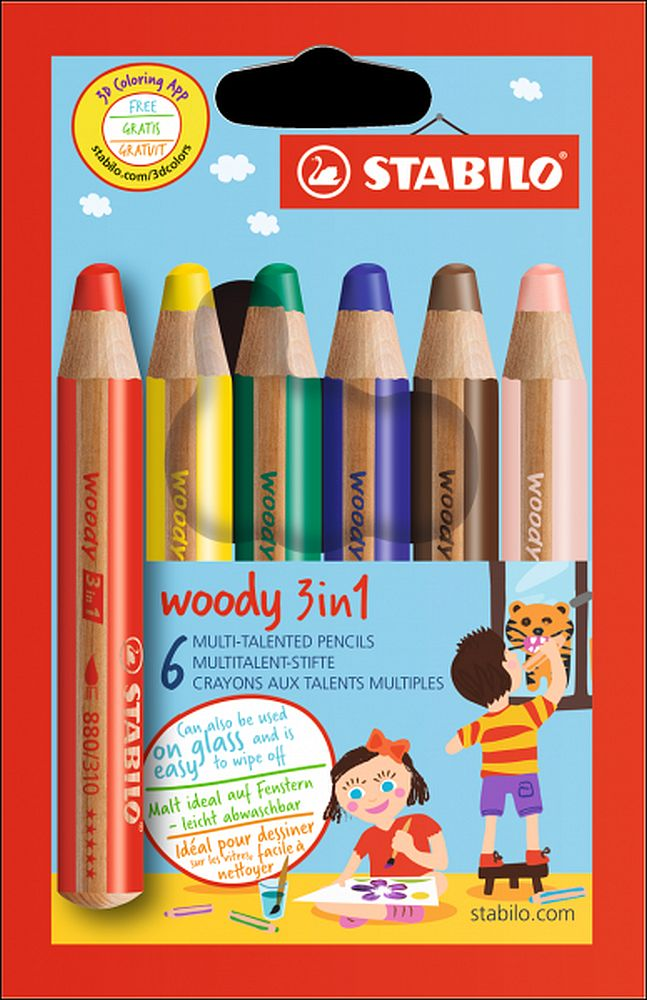 Stabilo Woody 3 in 1 6er Karton