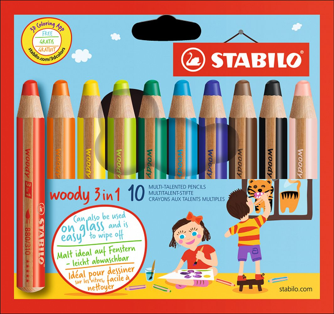 Stabilo Woody 3 in 1 10-er Karton