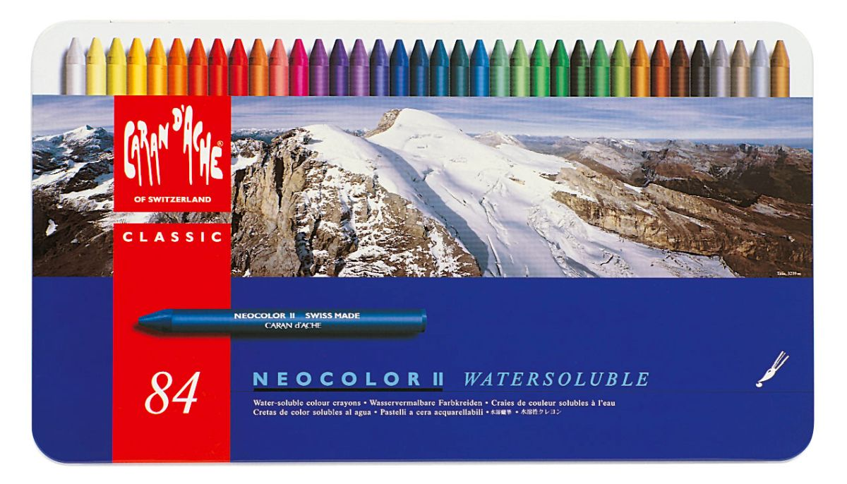 Caran d´Ache Künstlerkreide NEOCOLOR II 10 Farben im Metalletui