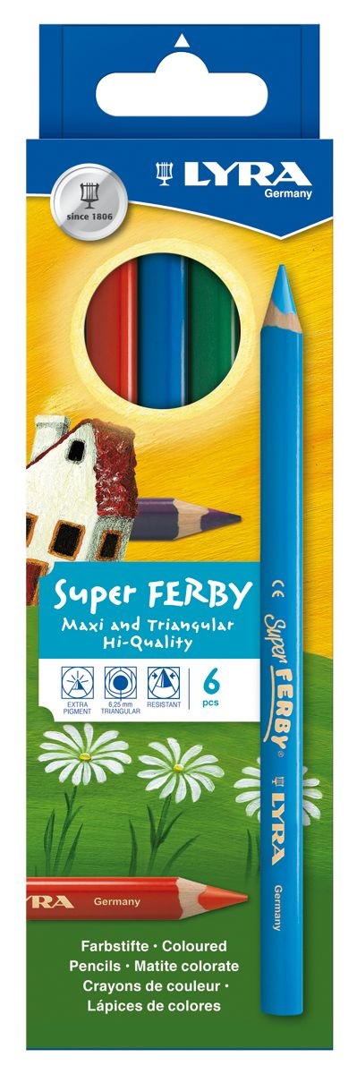 Lyra Super Ferby Farbstift 6-er Set