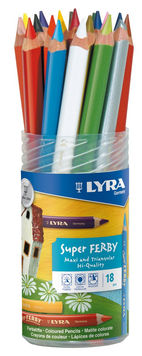 Lyra Super Ferby Farbstift 18-er Set
