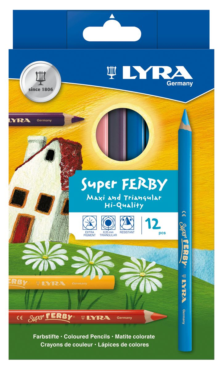Lyra Super Ferby Farbstift 12-er Set