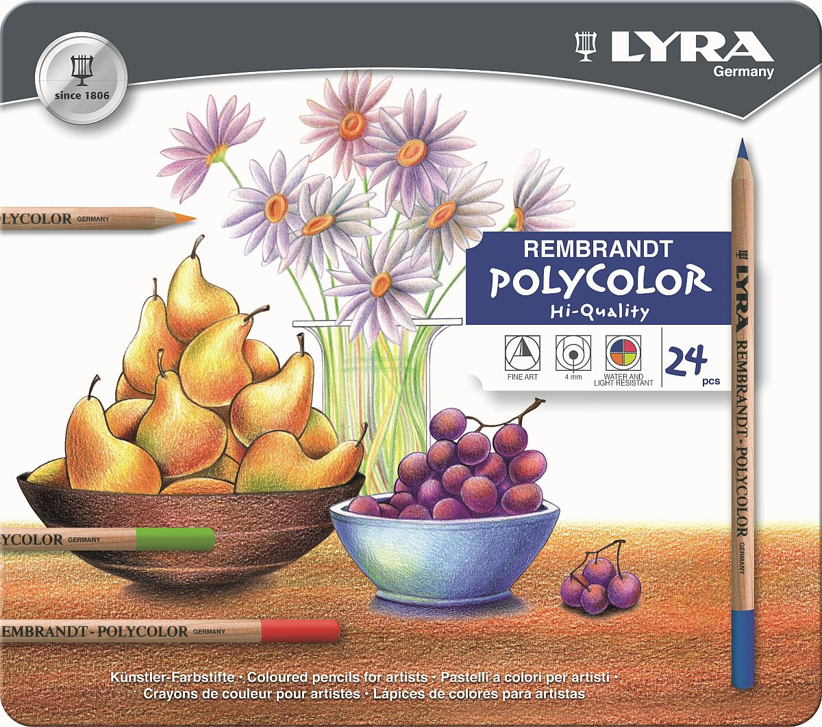 Lyra Rembrandt Polycolor Stift 24-er Set