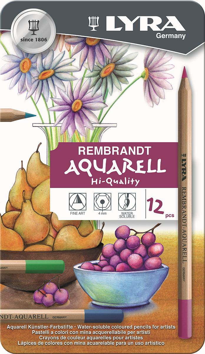 Lyra Rembrandt Aquarell-Stift 12-er Set