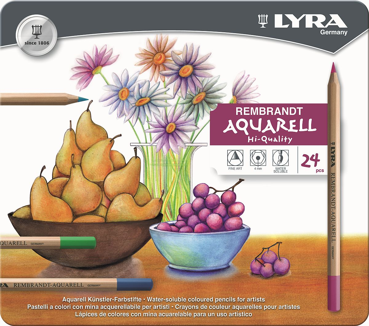 Lyra Rembrandt Aquarell-Stift 24-er Set