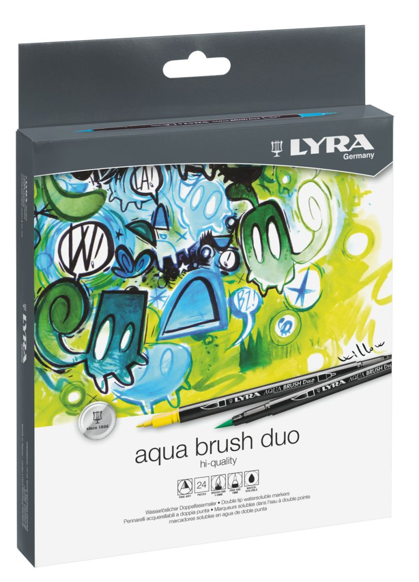 Lyra Aqua-Brush Duo Doppelspitze 24-er Set