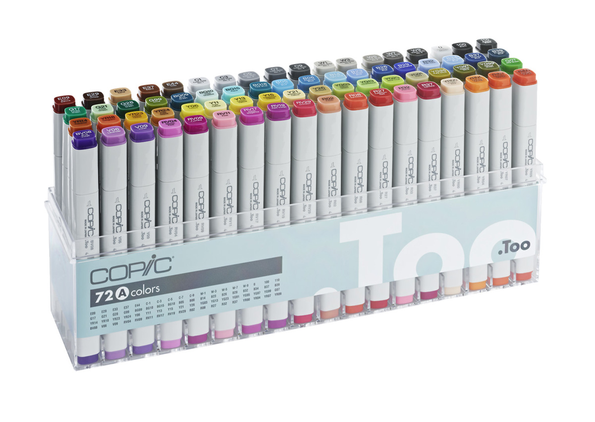 Copic-Marker-Set A Acryldisplay 72 Marker