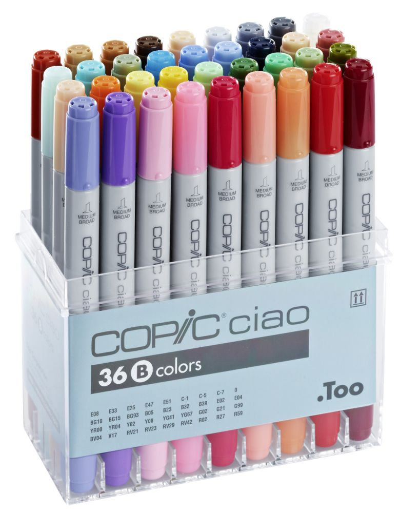 Copic Ciao-Set B Acryldisplay 36 Marker